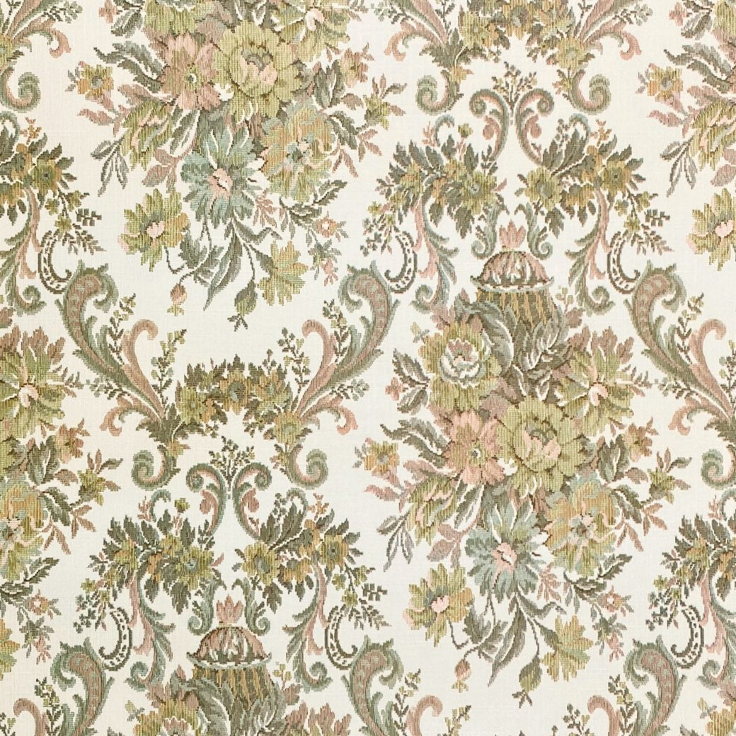 Vintage Baroque Wallpaper Brown and Green 2