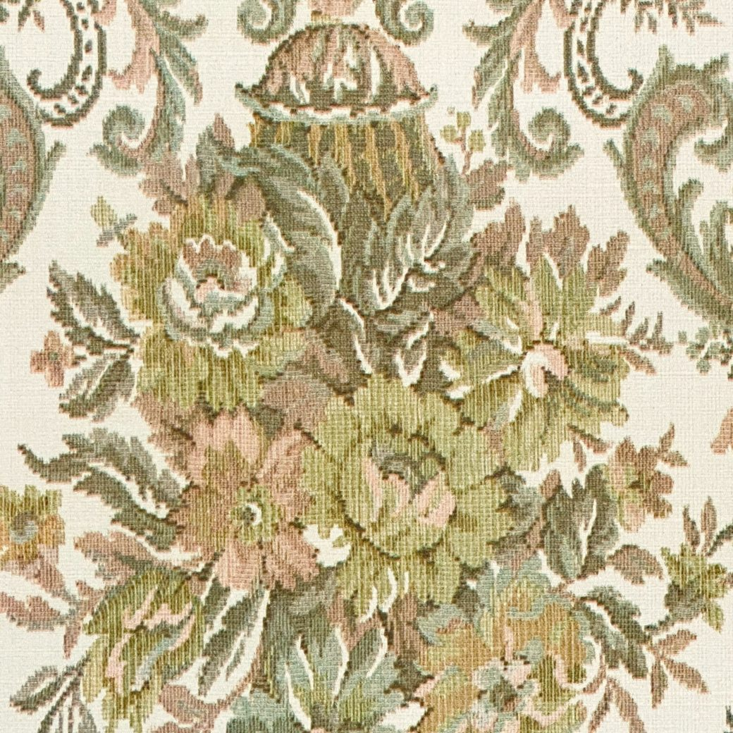 Vintage Baroque Wallpaper Brown and Green 4