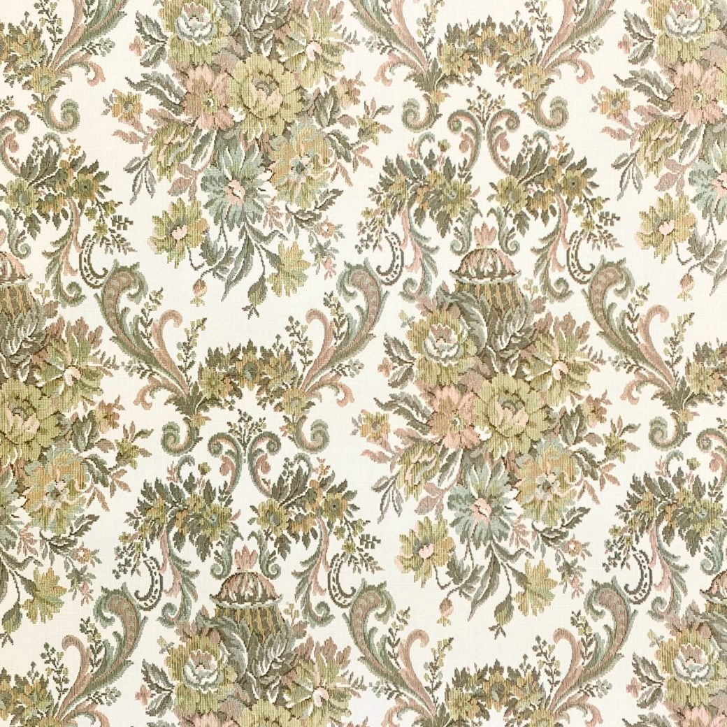 Vintage Baroque Wallpaper Brown and Green
