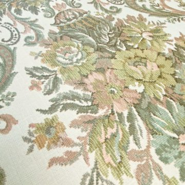 Vintage Baroque Wallpaper Brown and Green 5