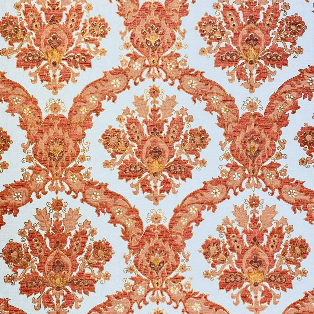 Vintage Baroque Wallpaper Red and Gold 3