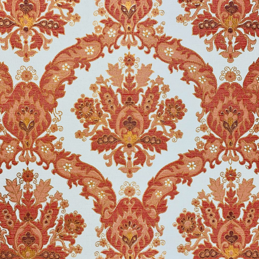 Vintage Baroque Wallpaper Red and Gold 4