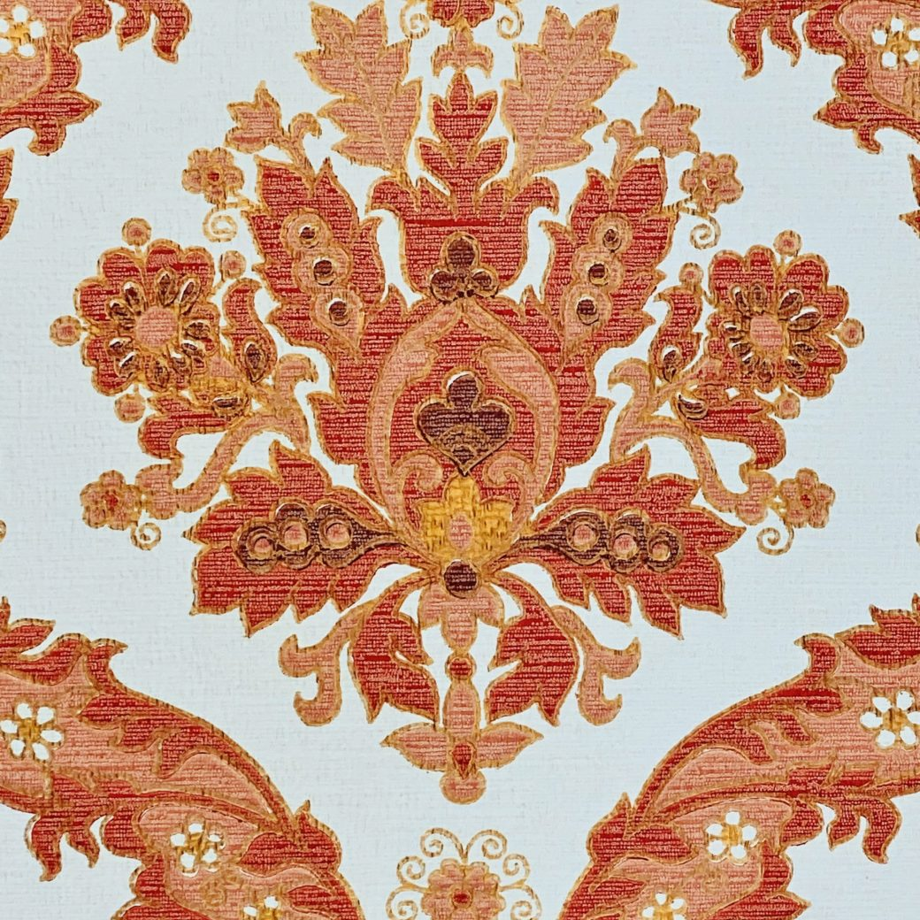 Vintage Baroque Wallpaper Red and Gold 6