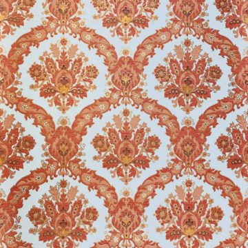 Vintage Baroque Wallpaper Red and Gold 1