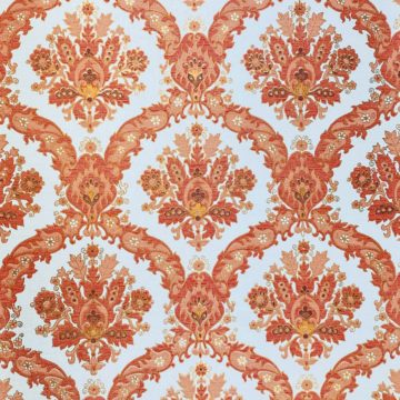 Vintage Baroque Wallpaper Red and Gold 2