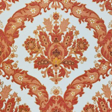 Vintage Baroque Wallpaper Red and Gold 5