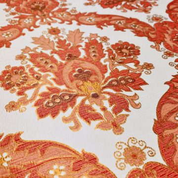 Vintage Baroque Wallpaper Red and Gold 7
