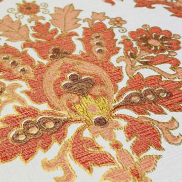 Vintage Baroque Wallpaper Red and Gold 8