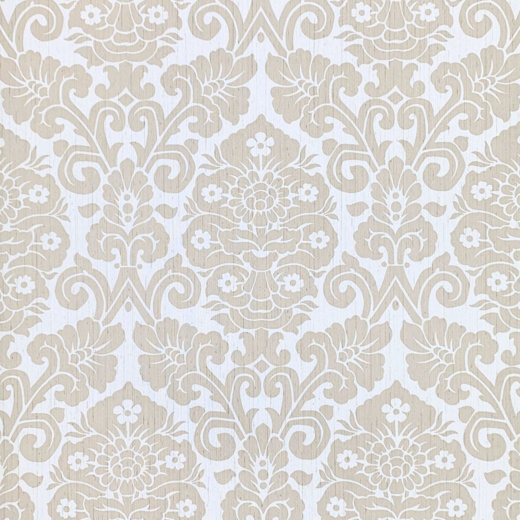 Vintage damask vinyl wallpaper 5