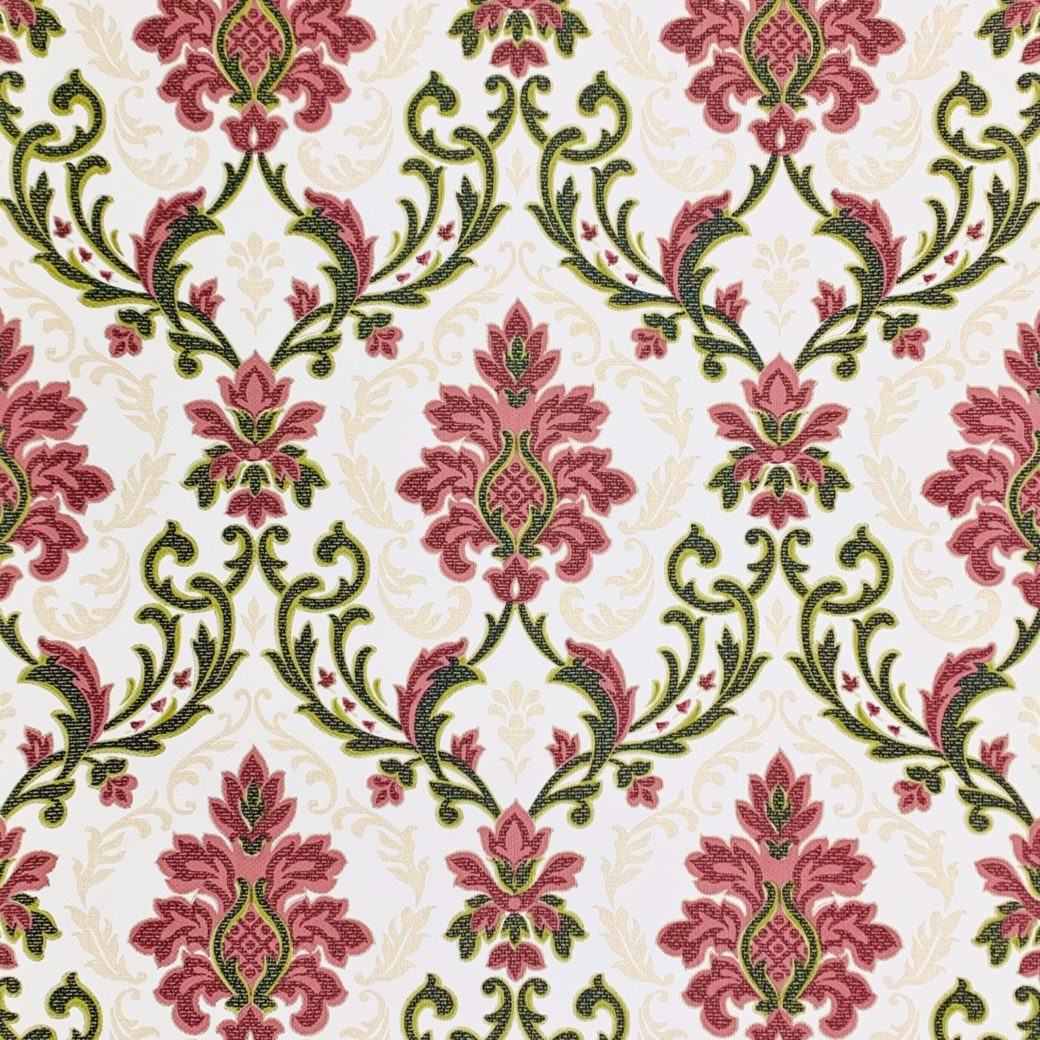 Vintage black and red damask wallpaper