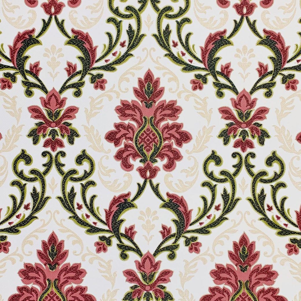 Vintage black and red damask wallpaper 1