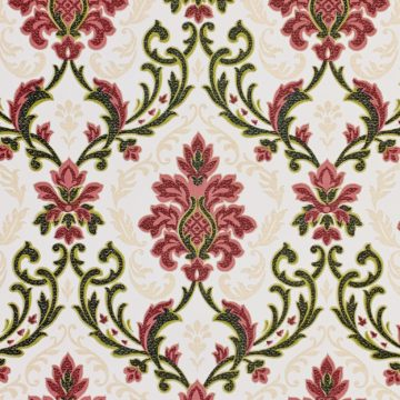Vintage black and red damask wallpaper 3