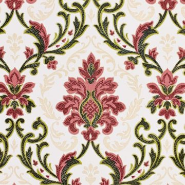Vintage black and red damask wallpaper 2