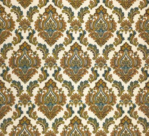 Vintage blue damask wallpaper