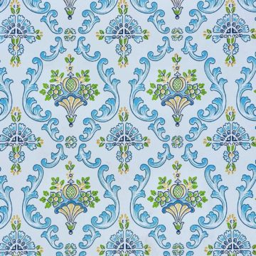 Vintage blue damask wallpaper 3