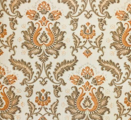 Vintage brown and orange baroque wallpaper 4