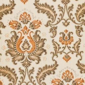 Vintage brown and orange baroque wallpaper 3