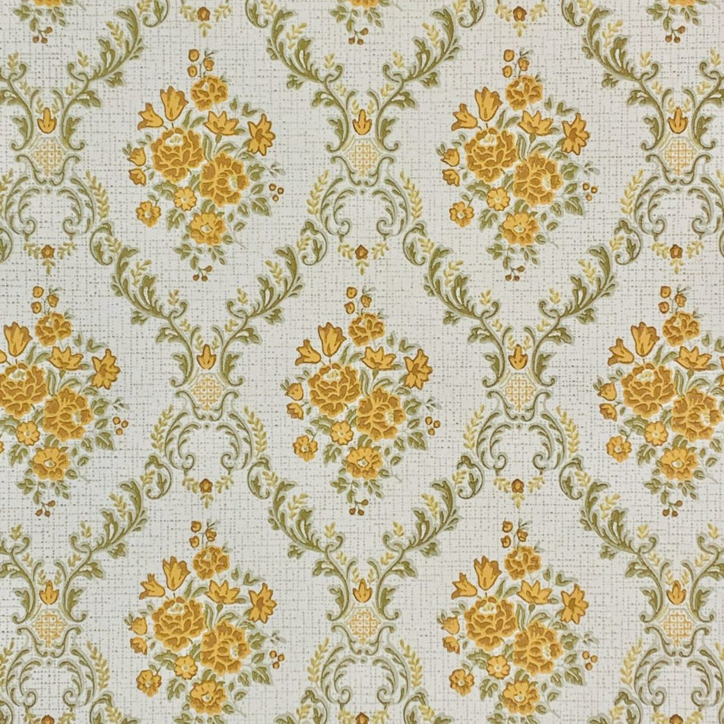 Vintage brown baroque wallpaper 2