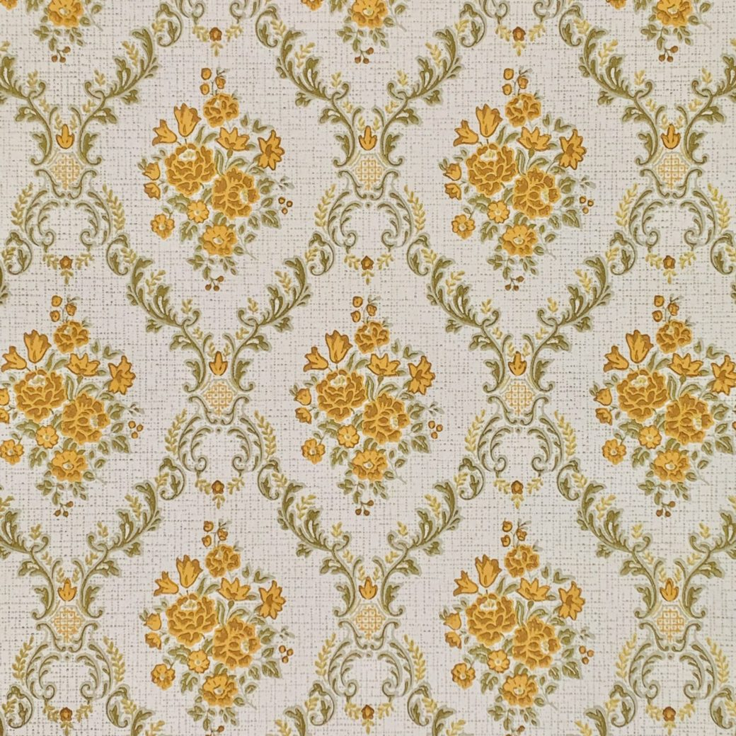 Vintage brown baroque wallpaper