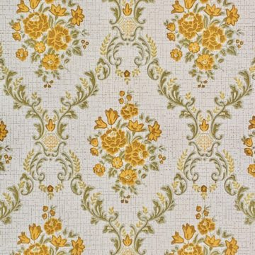 Vintage brown baroque wallpaper 3