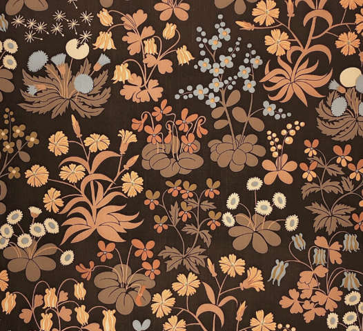 Vintage Brown Botanical Wallpaper 1