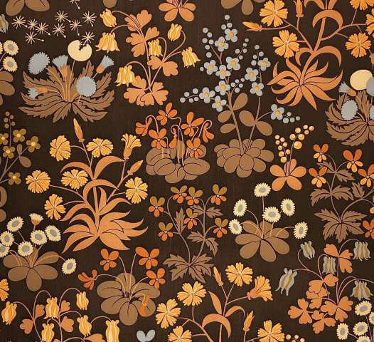 Vintage brown botanical wallpaper