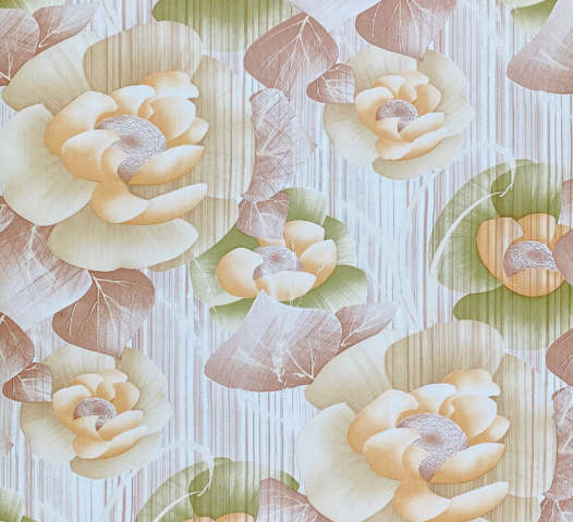 Vintage Brown Color Floral Wallpaper