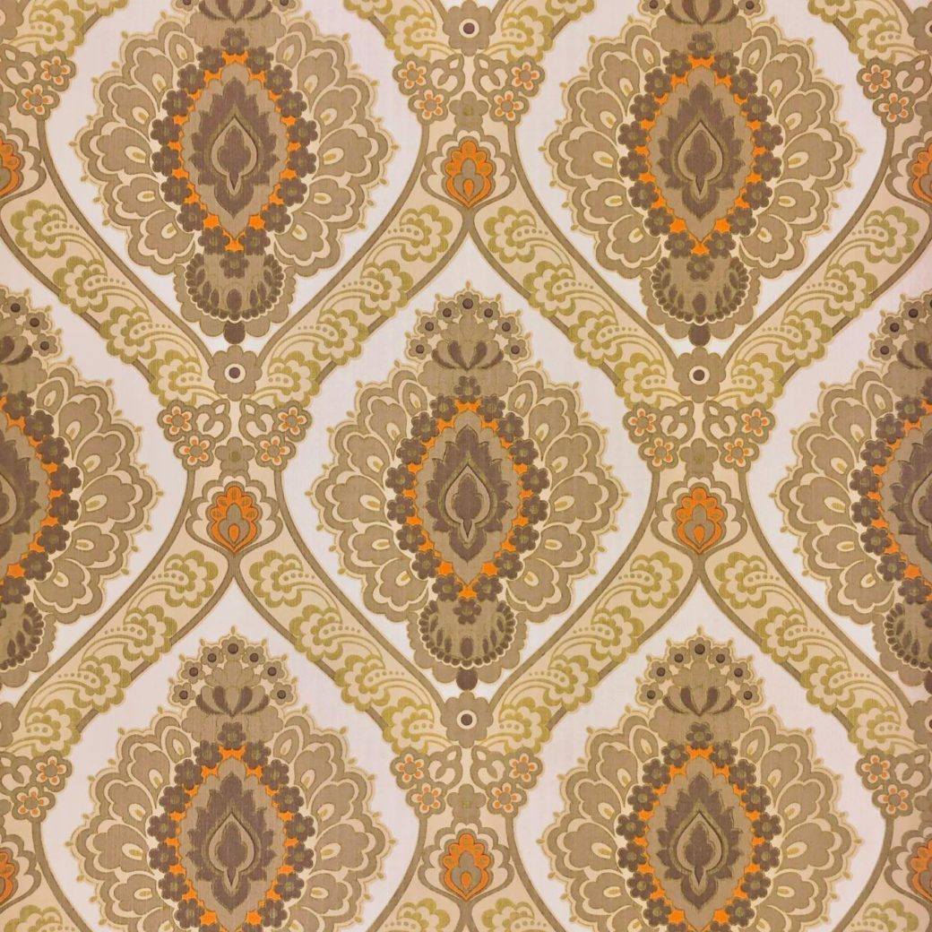 Vintage brown damask wallpaper 3