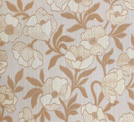1980s brown floral wallpaper