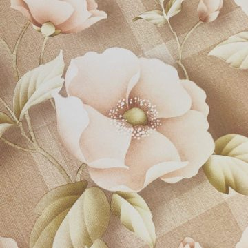 Vintage brown floral wallpaper 3
