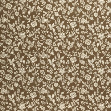 Vintage brown floral wallpaper 2