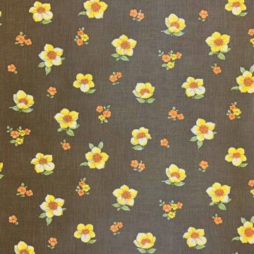Vintage brown floral wallpaper