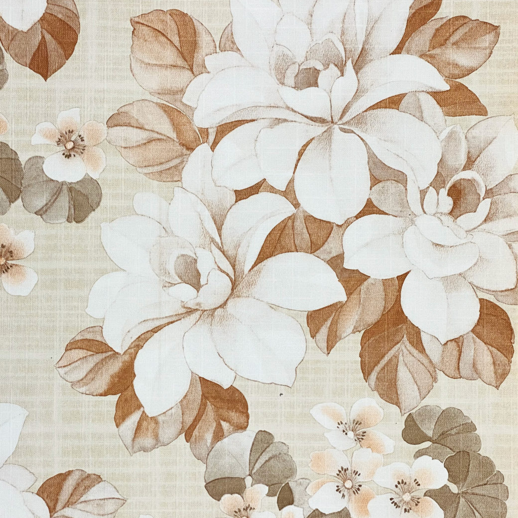 Vintage Brown Flower Pattern Wallpaper 4
