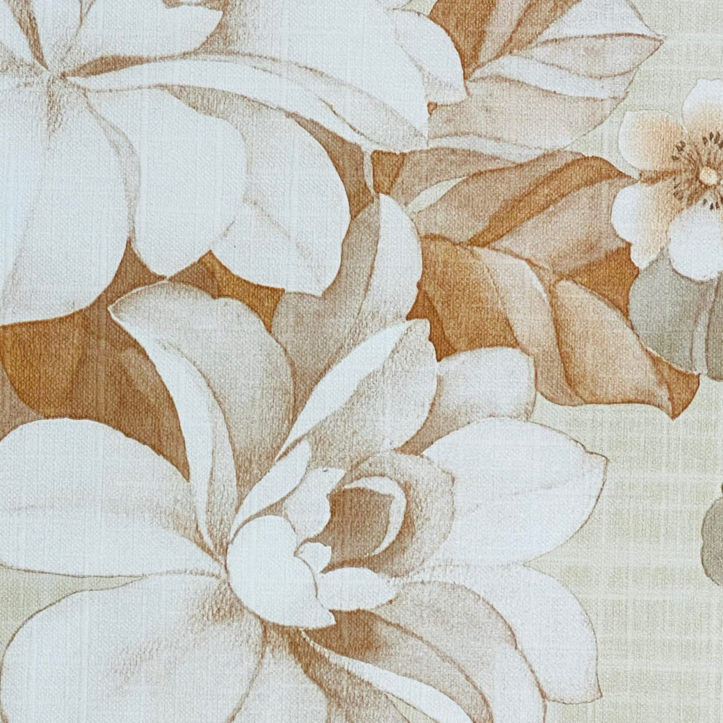 Vintage Brown Flower Pattern Wallpaper 8