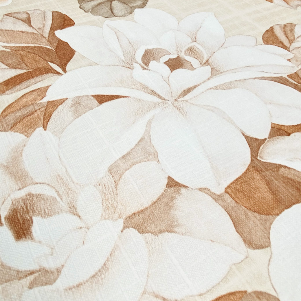 Vintage Brown Flower Pattern Wallpaper 9