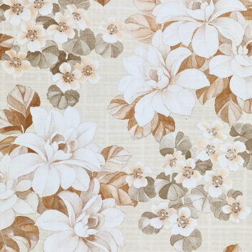 Vintage Brown Flower Pattern Wallpaper 1