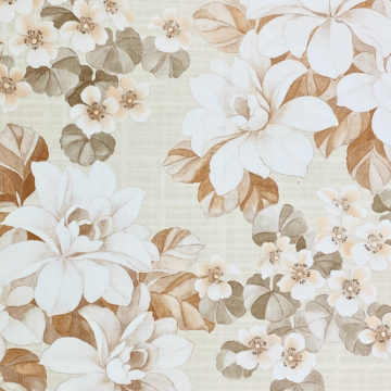 Vintage Brown Flower Pattern Wallpaper 2