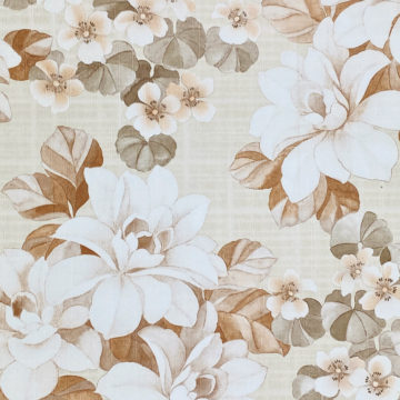 Vintage Brown Flower Pattern Wallpaper 3