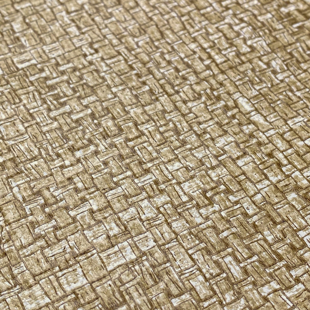 Vintage Brown Woven Grass Look 6