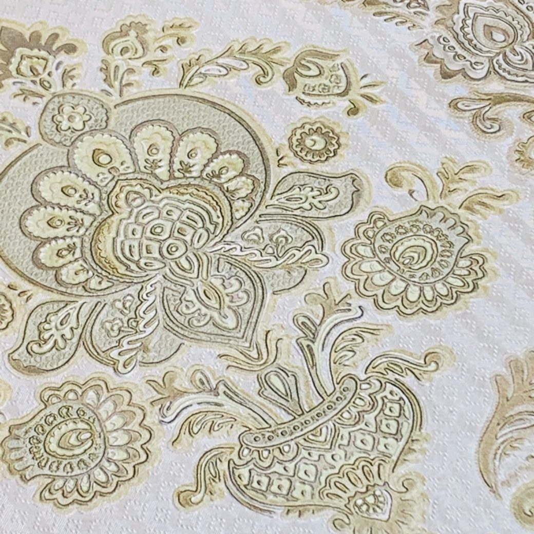 Vintage gold baroque wallpaper 3