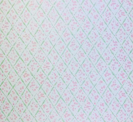 Vintage Checkered Wallpaper Pink and Green 7