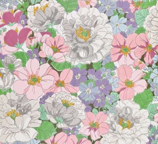 Vintage colorful floral wallpaper 4