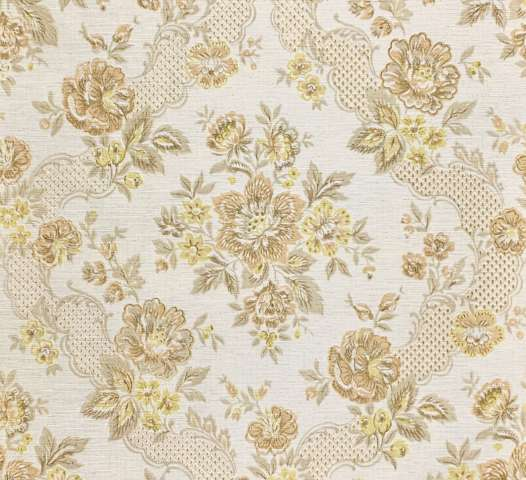 Vintage Embossed Floral Wallpaper