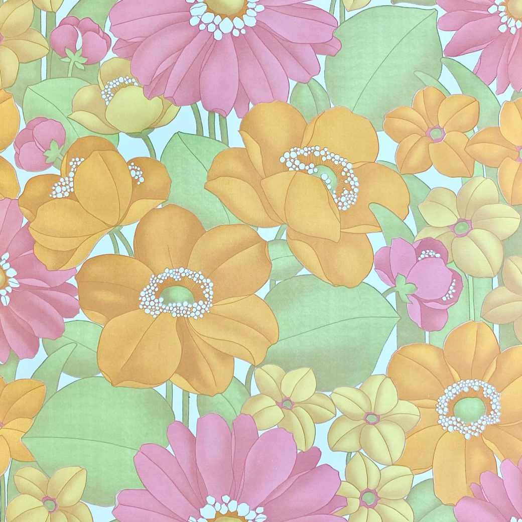 Floral Foam Wallpaper