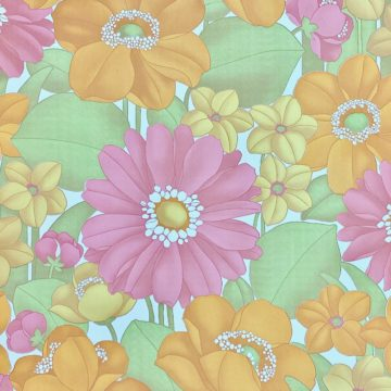Floral Foam Wallpaper 3