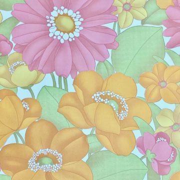 Floral Foam Wallpaper 6