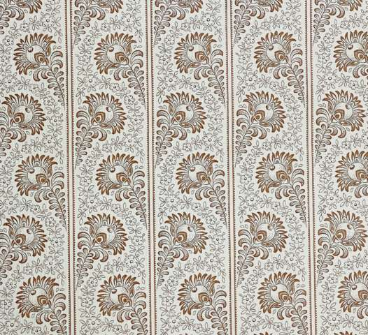 Vintage Floral Striped Wallpaper