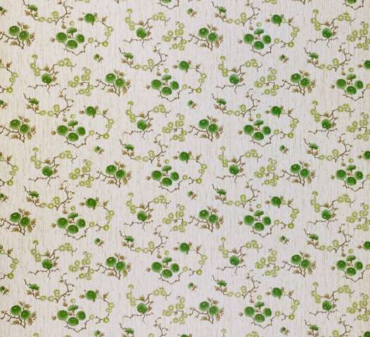 Vintage Floral Wallpaper Green Small Flowers 2