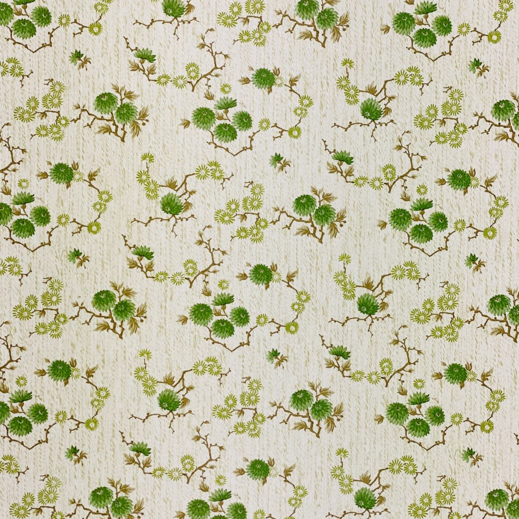 Vintage Floral Wallpaper Green Small Flowers 7