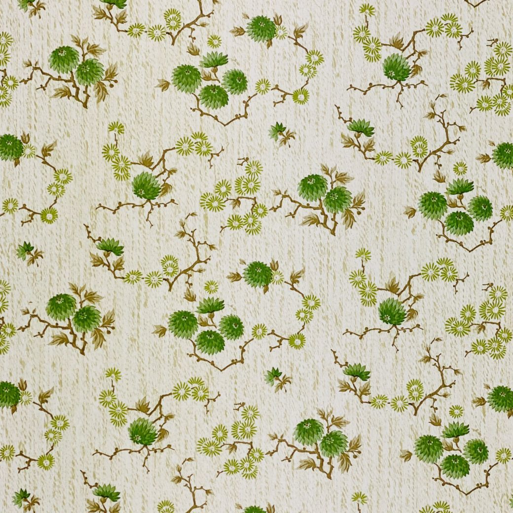 Vintage Floral Wallpaper Green Small Flowers 8